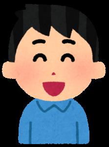 口コミ(男性、にっこり)