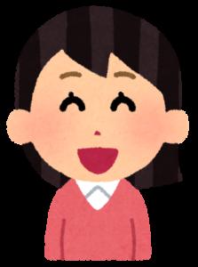 口コミ(女性、にっこり)