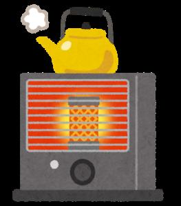 風を出さない暖房器具